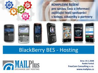 BlackBerry BES - Hosting