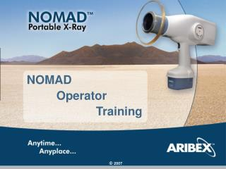 NOMAD          Operator                      Training
