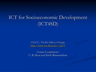 ICT for Socioeconomic Development (ICT4SD)