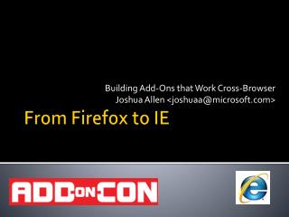 From Firefox to IE