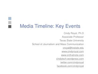 Media Timeline: Key Events