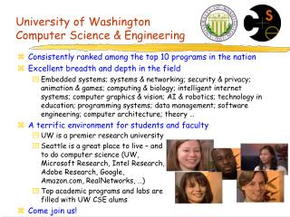University of Washington Computer Science  Engineering