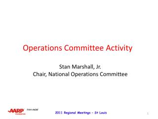 Operations Committee Activity