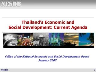 Thailand's Economic and  Social Development: Current Agenda