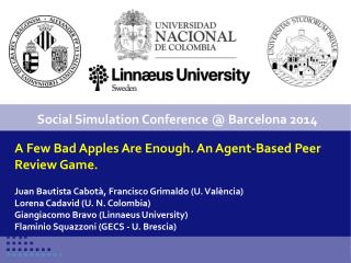 A Few Bad Apples Are Enough. An Agent-Based Peer Review Game.