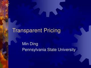 Transparent Pricing