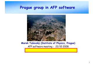 Prague group in AFP software
