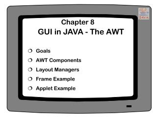 GUI in JAVA - The AWT