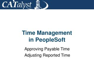 Time Management in PeopleSoft