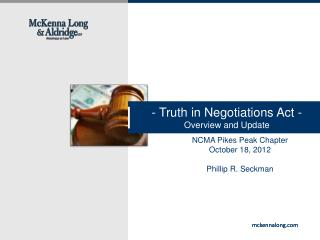 - Truth in Negotiations Act -  Overview and Update