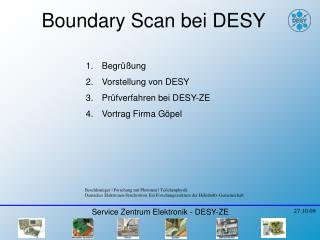 Boundary Scan  bei DESY