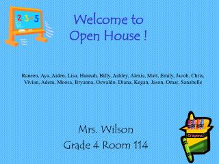 Welcome to Open House !