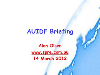 AUIDF Briefing