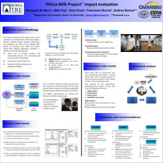 """""""Africa Milk Project"""" Impact evaluation"""