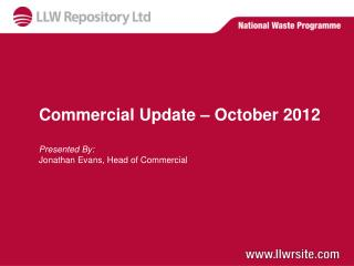 Commercial Update – October 2012