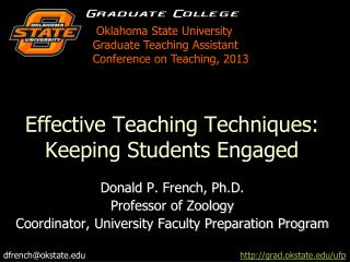 Effective Teaching Techniques: Keeping Students Engaged