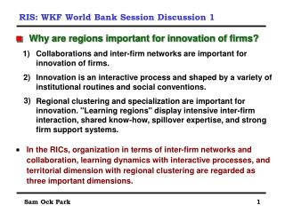 RIS: WKF World Bank Session Discussion 1