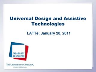 Universal Design and Assistive Technologies