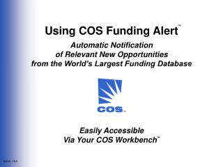 Using COS Funding Alert