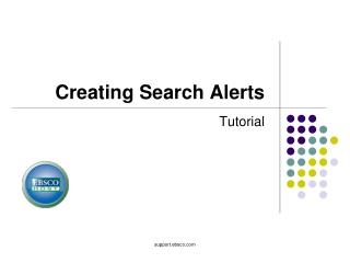 Creating Search Alerts