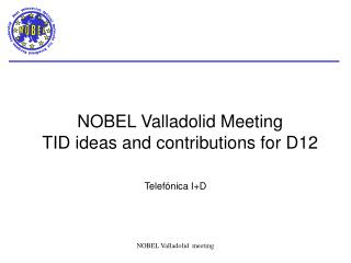 NOBEL Valladolid Meeting TID ideas and contributions for D12