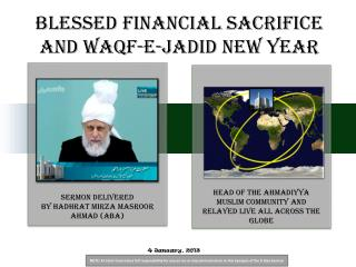 Blessed Financial Sacrifice and Waqf-e-Jadid New Year