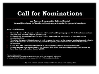Call for Nominations