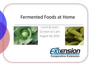 Fermented Foods at Home