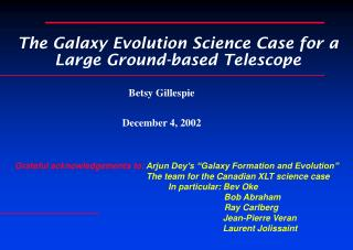 The Galaxy Evolution Science Case for a Large Ground-based Telescope