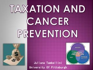 Taxation and Cancer prevention