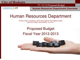 Proposed Budget  Fiscal Year 2012-2013