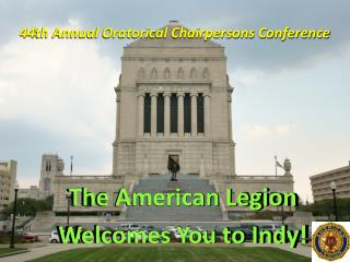 44th Annual Oratorical Chairpersons Conference