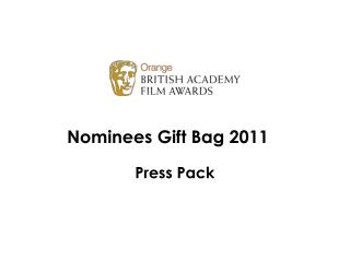 Nominees Gift Bag 2011