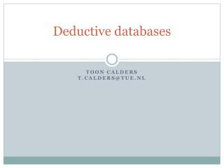 Deductive databases