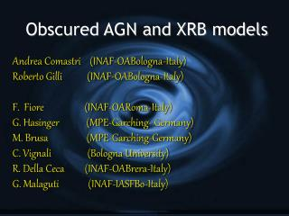Obscured AGN and XRB models
