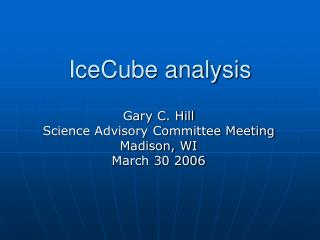 IceCube analysis