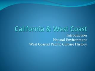 California & West Coast