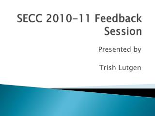 SECC 2010-11 Feedback Session