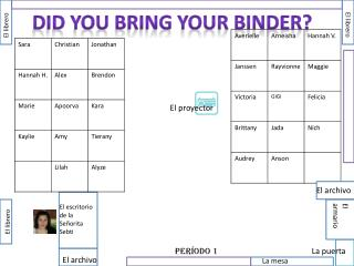 Did you bring your binder?