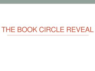 The BOOK circle reveal