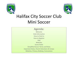 Halifax City Soccer Club  Mini Soccer