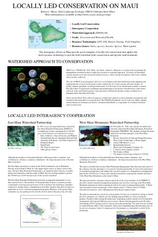 LOCALLY LED CONSERVATION ON MAUI