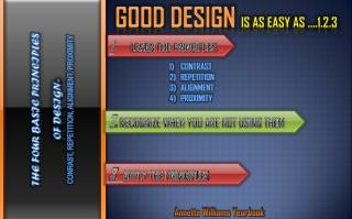 GOOD DESIGN  IS AS EASY AS ....1.2.3