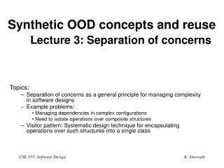 Synthetic OOD concepts and reuse Lecture 3: Separation of concerns