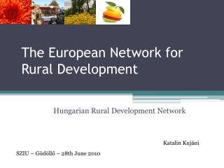The European Network  for Rural Development