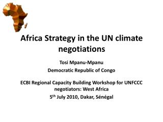 Africa Strategy in the  UN climate negotiations