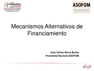 Mecanismos Alternativos de Financiamiento