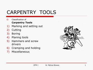 CARPENTRY  TOOLS