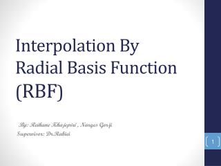 Interpolation By Radial Basis Function ( RBF )