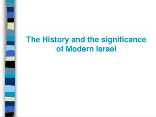 The History and the significance of Modern Israel